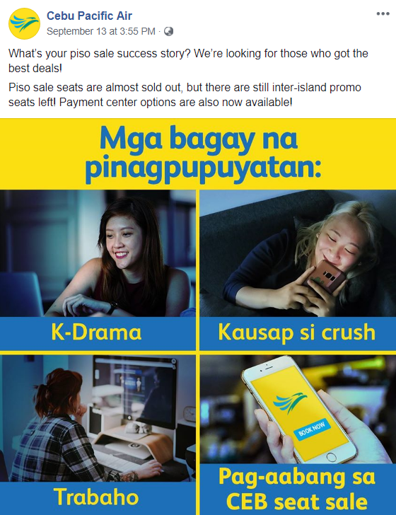 Cebu Pacific Air - 20 Sassy Philippine Brands You Should Be Following On Social Media